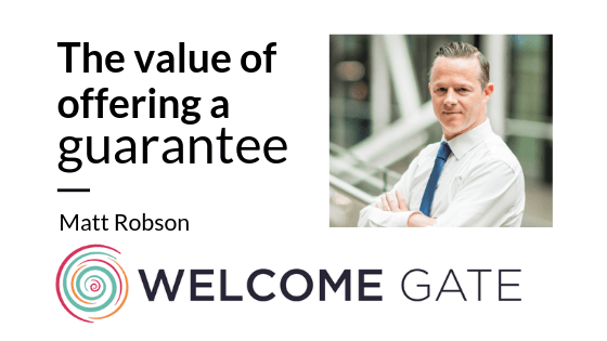 Welcome_gate - offering a guarantee