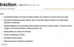 What does traction mean?