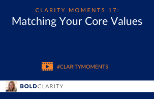 Matching your core values