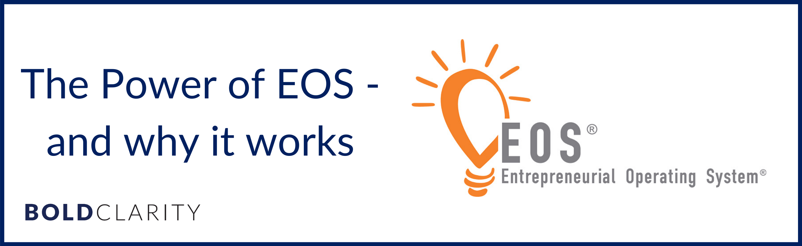 The Power of EOS and why it works